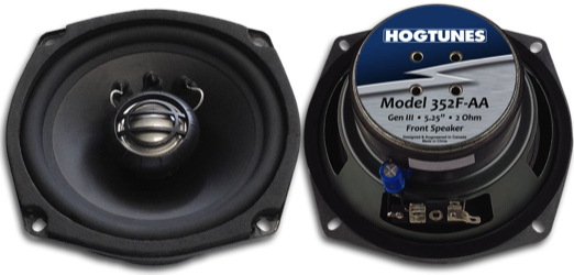 HogTunes 5.25-inch Front Replacement, 2 Ω