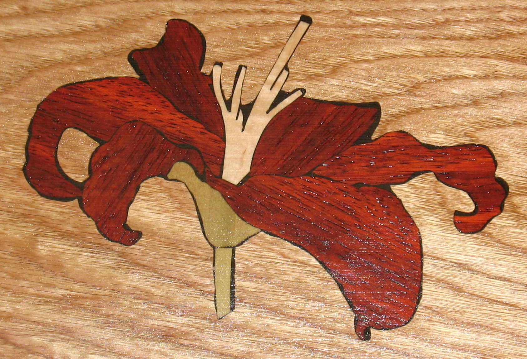 Red Lily Inlay