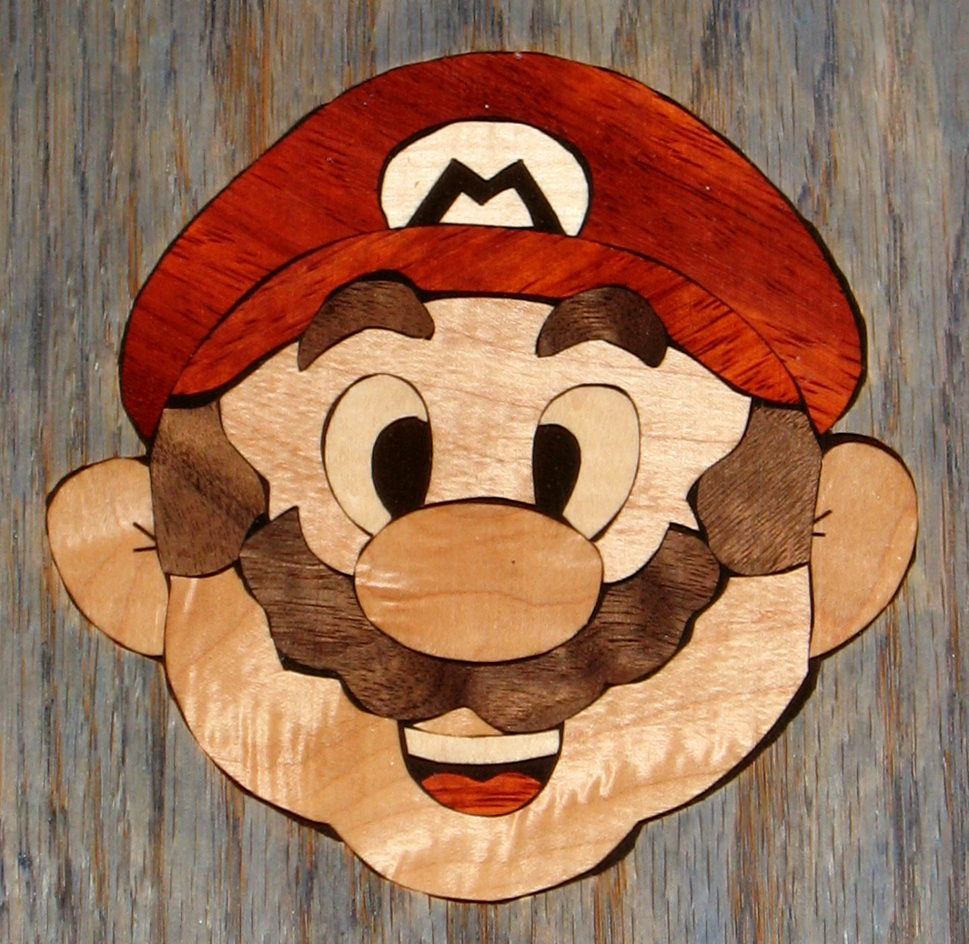 Super Mario Inlay