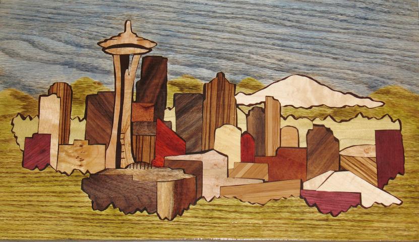 Seattle Skyline Inlay