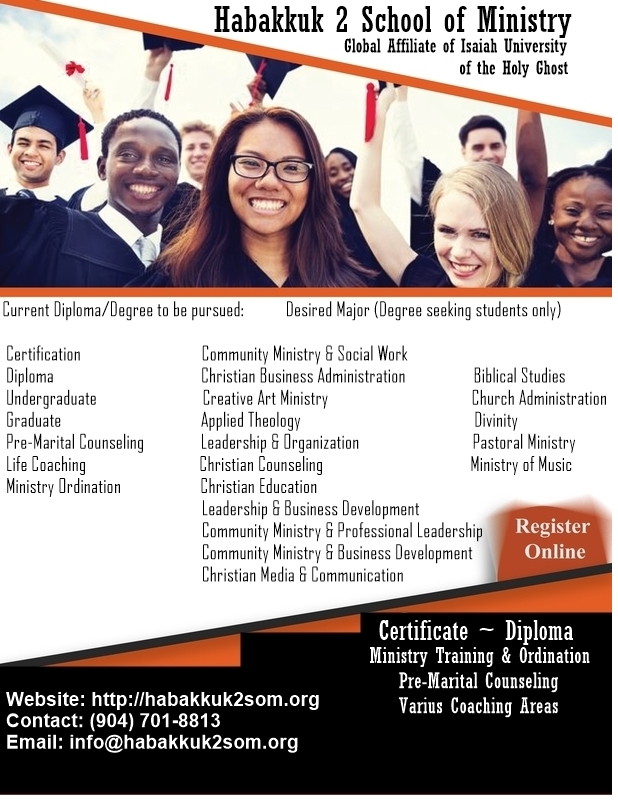 Habakkuk 2 School of Ministry Admission