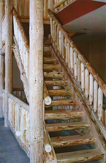 Naturally North Spooner Wi Log Furniture Stairs