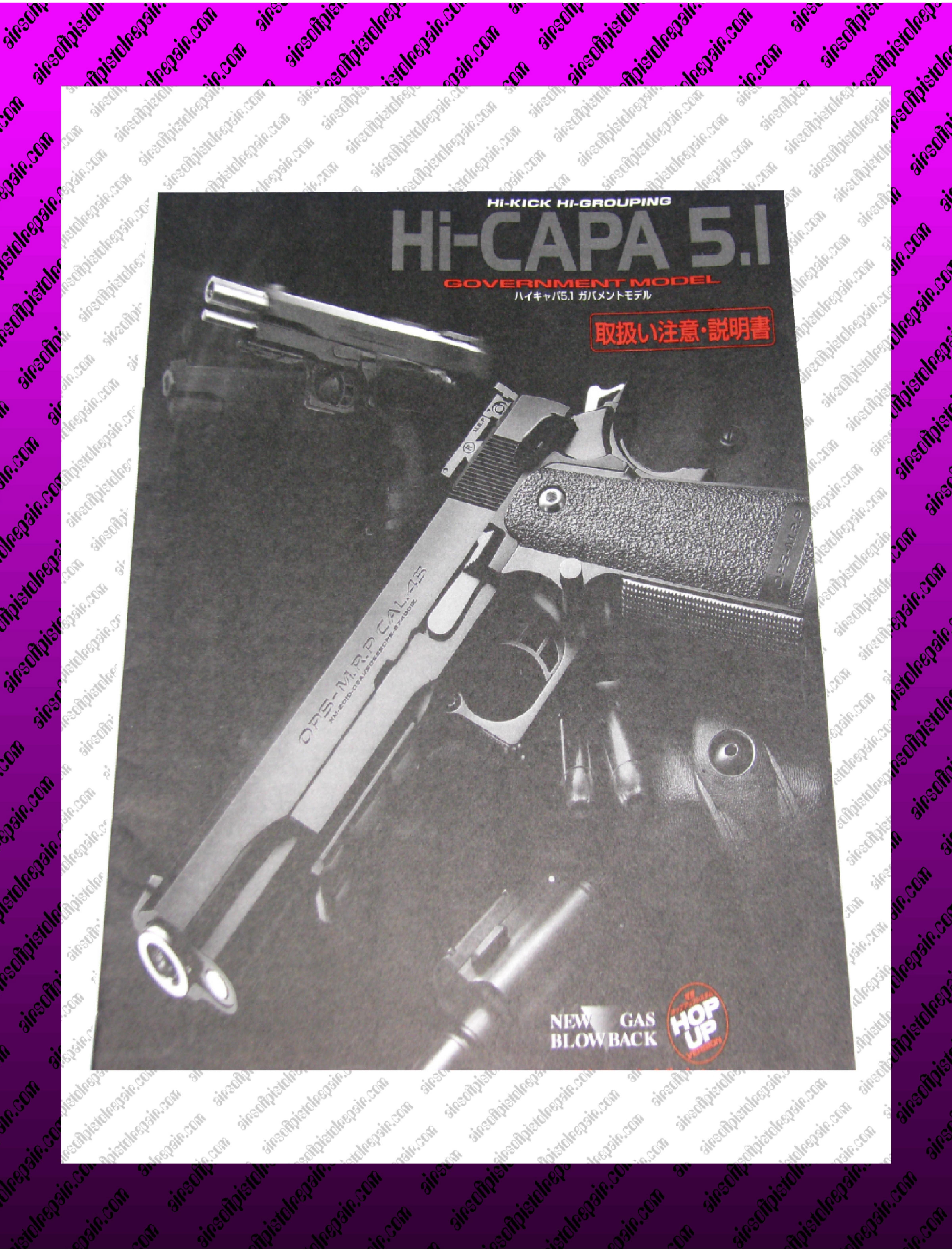 airsoft hi cappa pistol owners manual