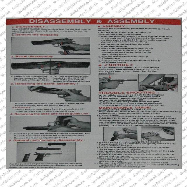 Airsoft DE Pistol Repairs