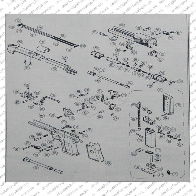 Airsoft Desert Eagle Pistol Parts