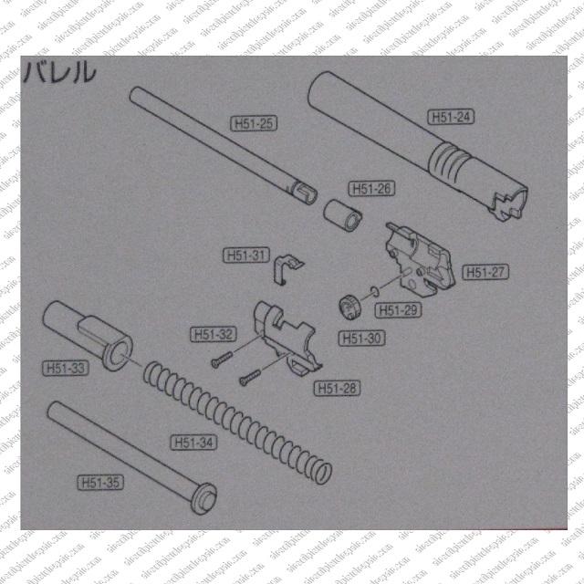 Airsoft Pistol Parts Diagrams 12