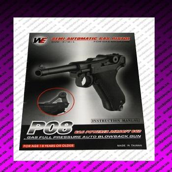 airsoft p08 gas pistol manual
