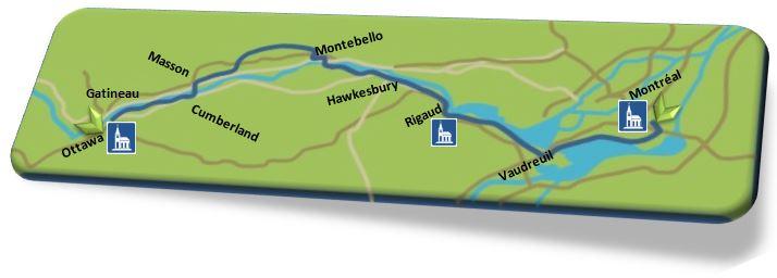Chemin des Outaouais - Carte