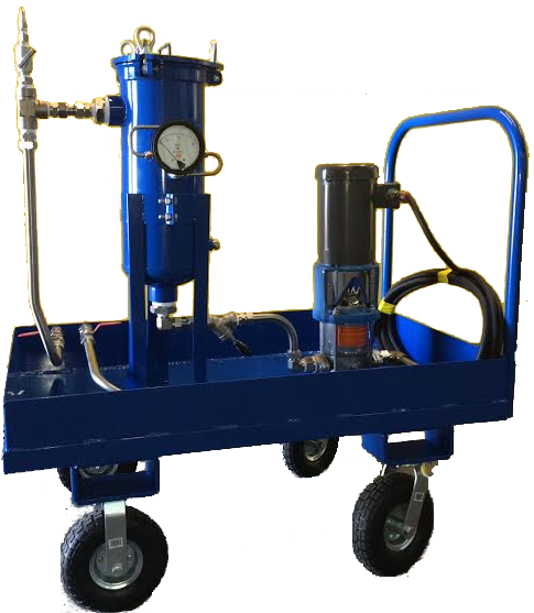 hydro testing - portable transfer/flushing cart