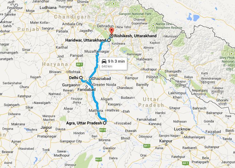 Delhi Agra Haridwar Rishikesh Tour