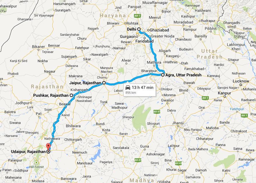 Delhi Agra Jaipur Pushkar Udaipur Tour