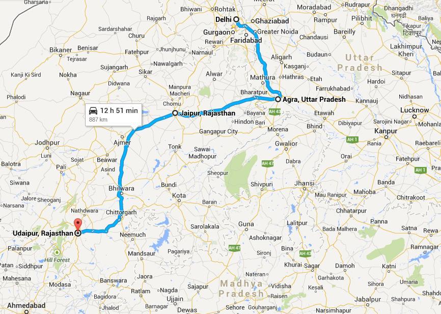 Delhi - Agra - Jaipur – Udaipur Tour