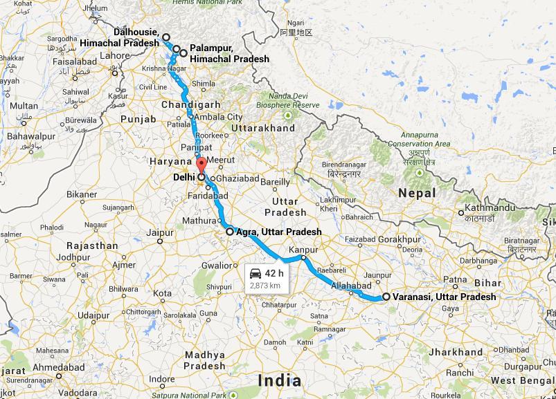 Delhi Palampur Dalhausie Dharamshala Agra Varanasi Tour