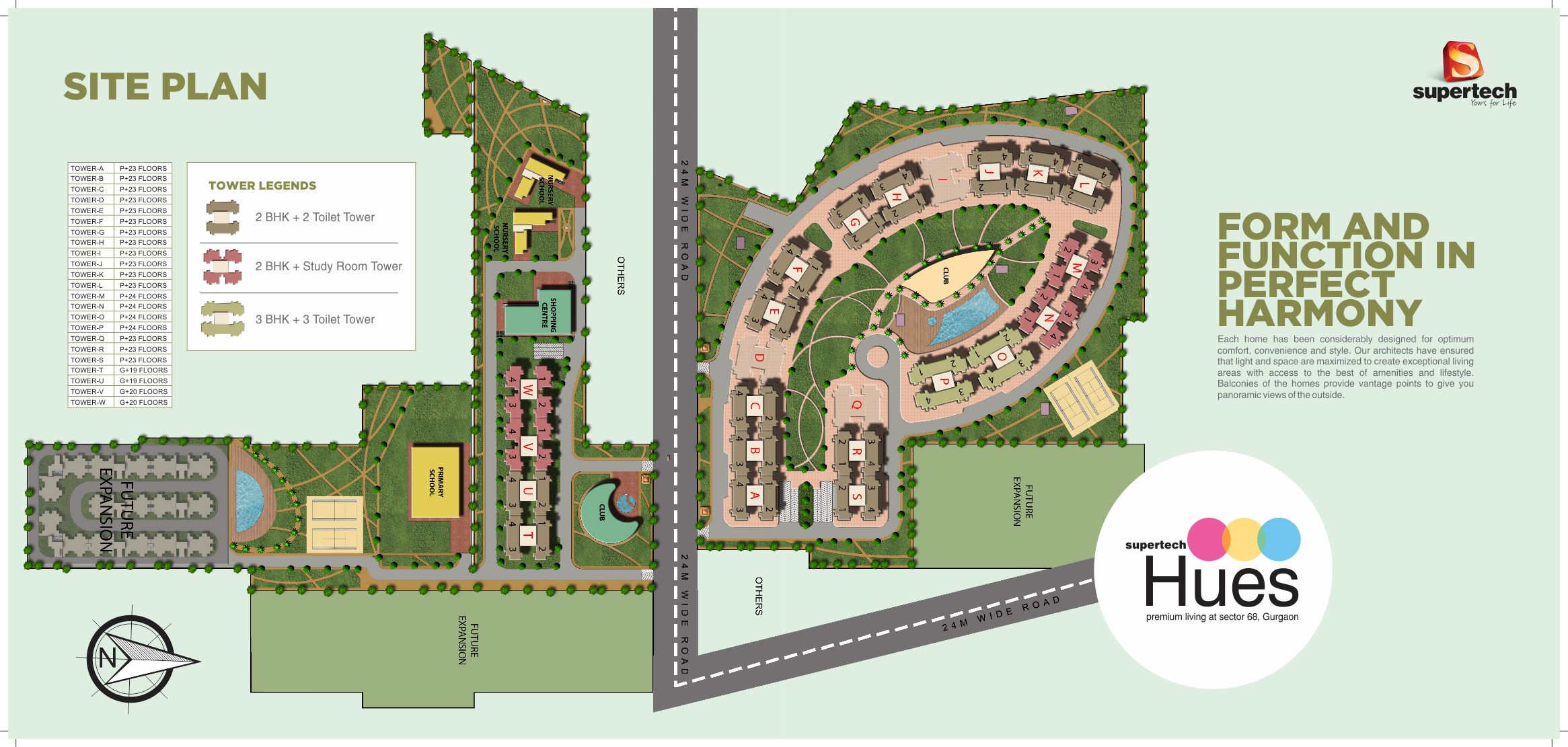 Site Plan Site Layout Upcoming Project Supertech Hues