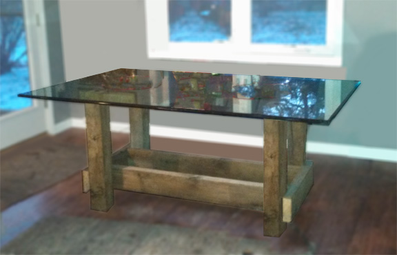 Kitchen Table built using reclaimed wood supplied by MichiganBarnworks
