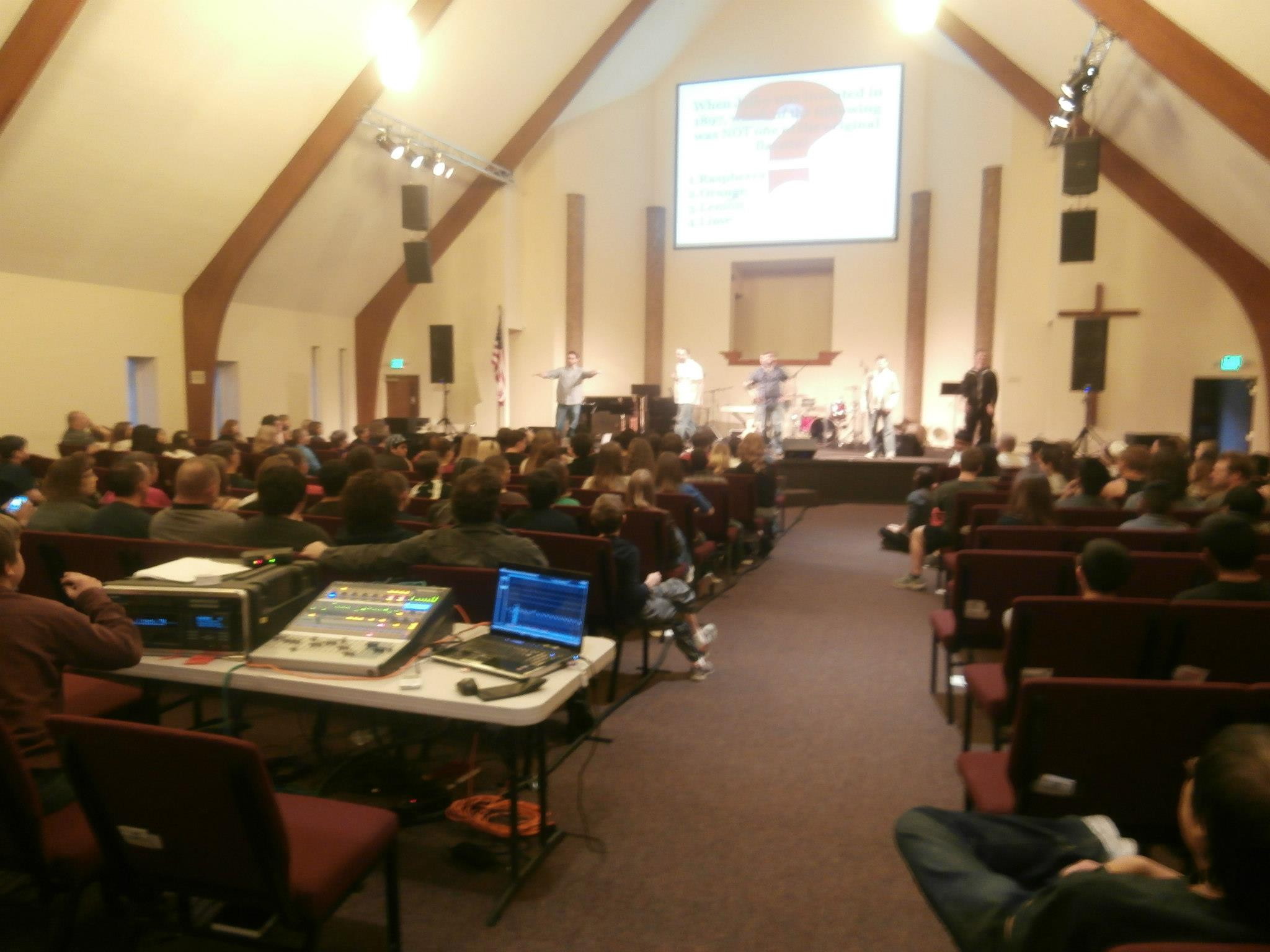 16 Channel multitrack recording a multi-church youth event