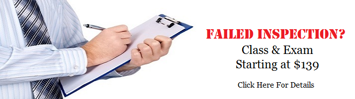 Failed Health Inspection? Food Manager Class And Exam Click Here