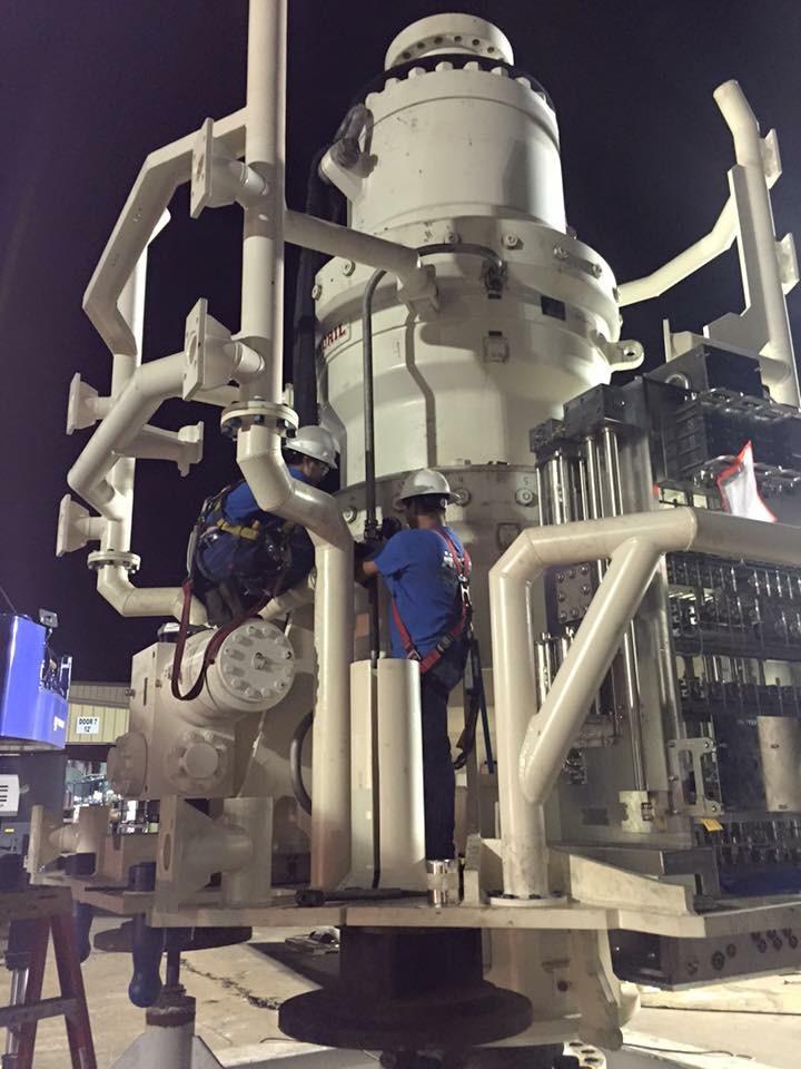 subsea controls BOP stack for Transocean at Aquamarine