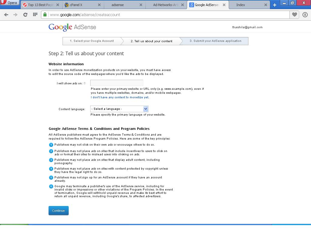 Get Google Adsense account approval very fast