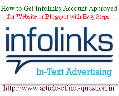 Infolinks Account Approval
