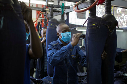 Inside a denim factory in Nairobi
