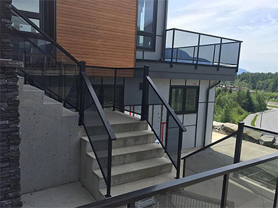 Aluminum and Glass Railings