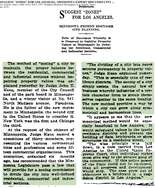 1917-The method of Zoning