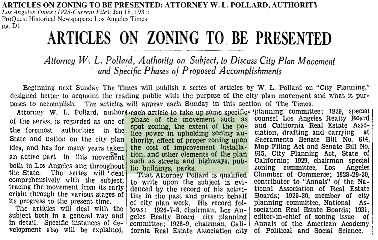 1931-Articles On Zoning