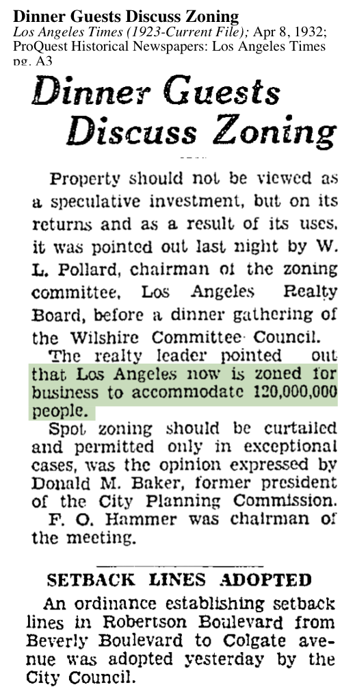 1932-Zoning Discussed