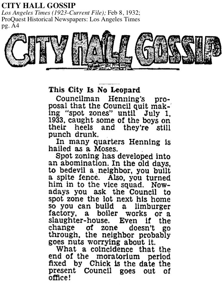 1932-City Hall Spot Zoning