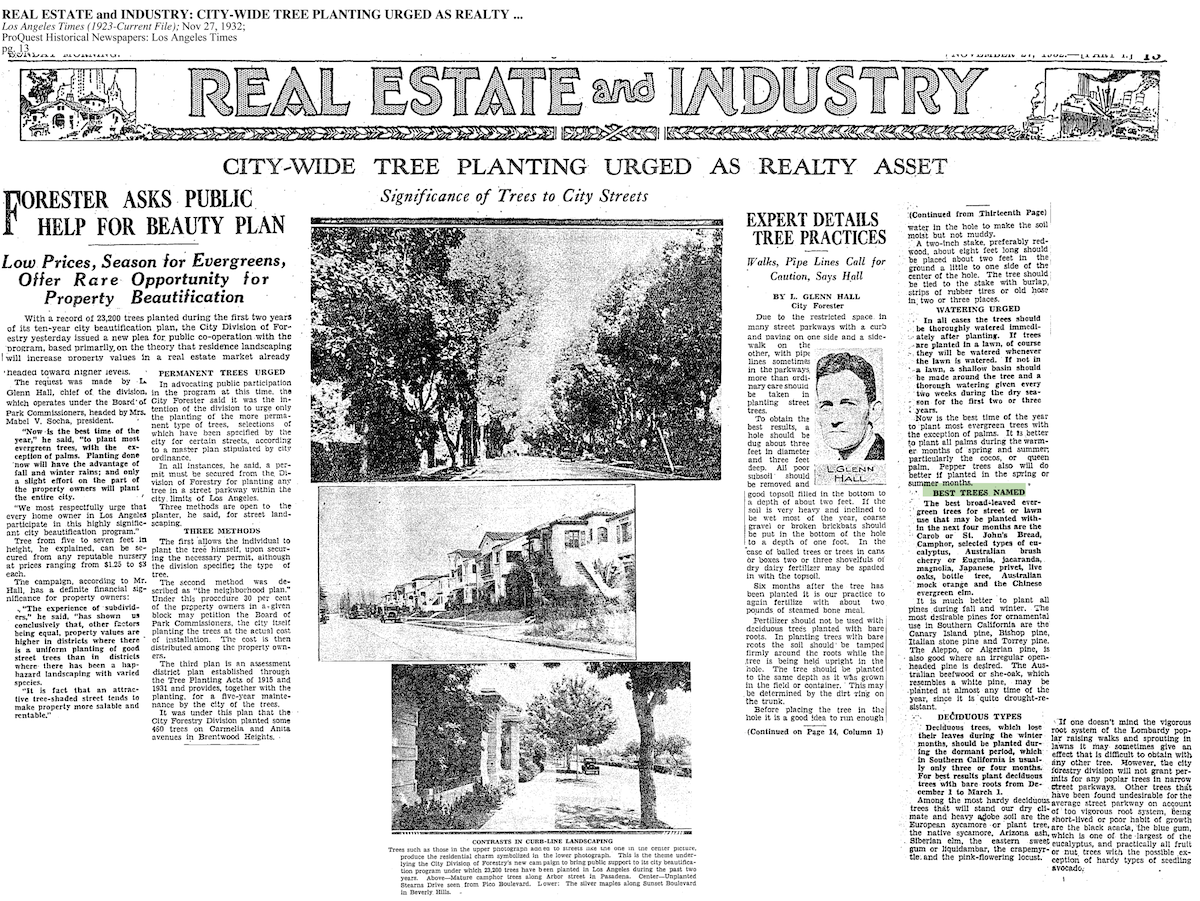 1932-Significance Of Trees To City Streets