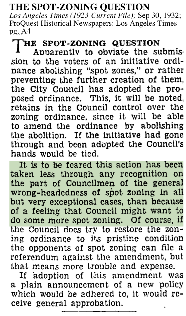 1932-Spot-Zoning Question
