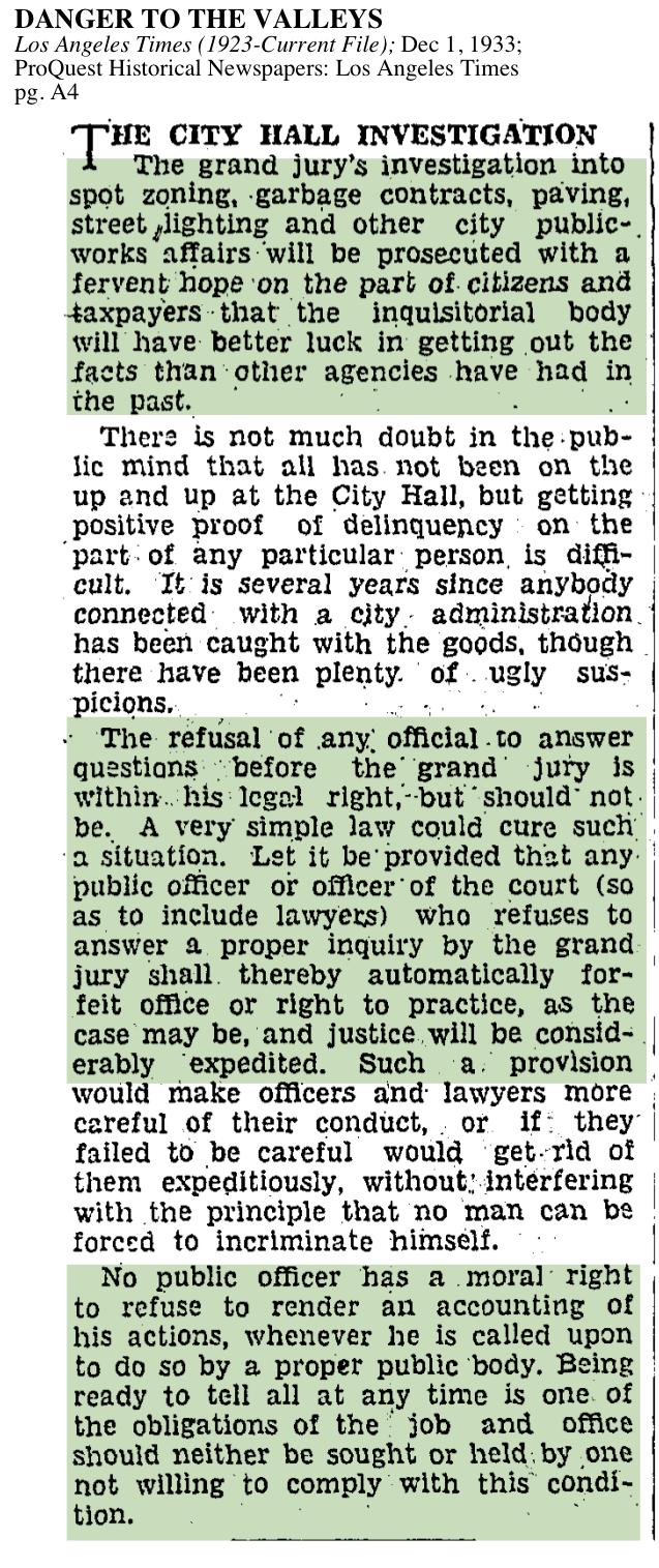 1933-City Hall Investigation