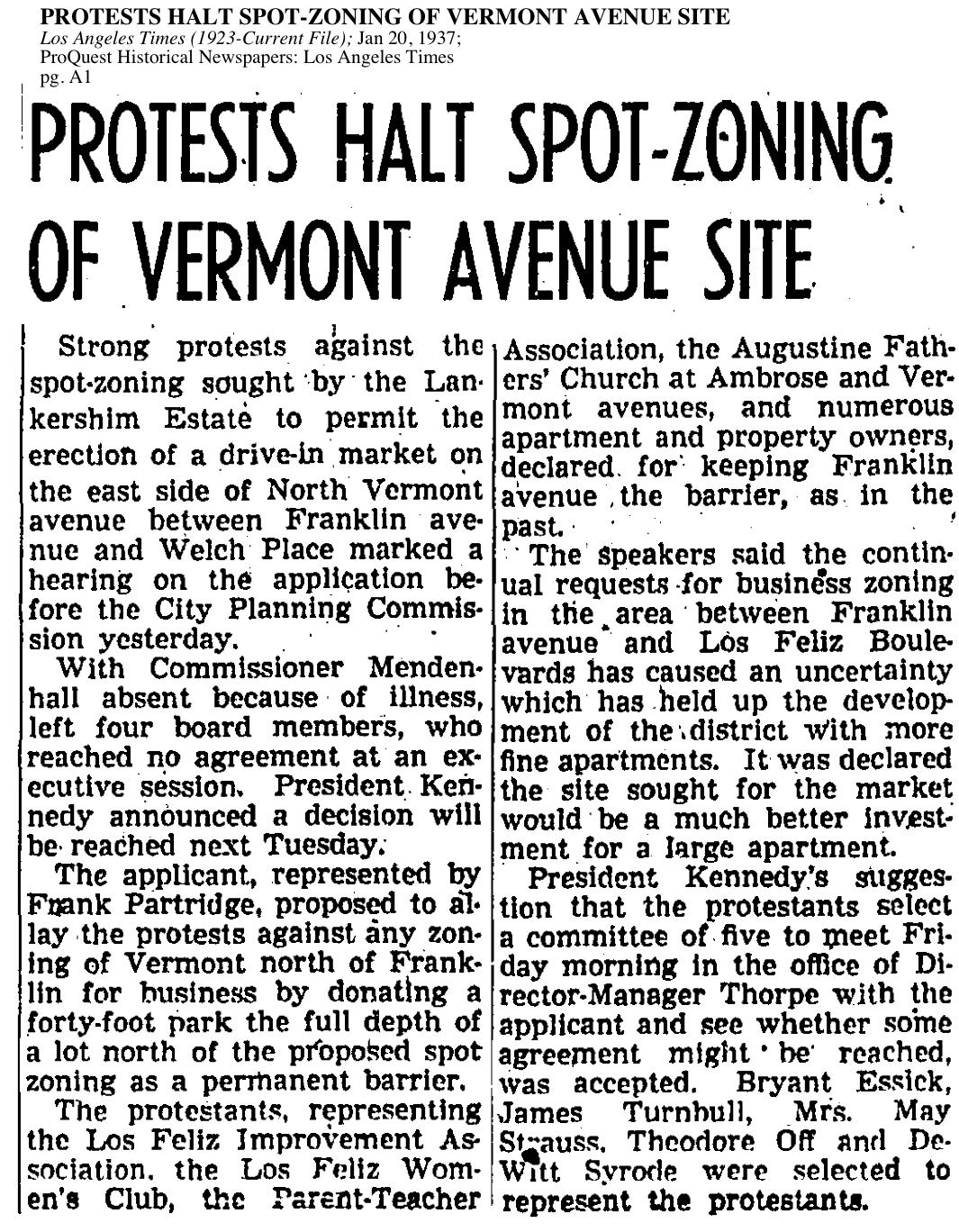 1937-Halt on Spot Zoning Vermont