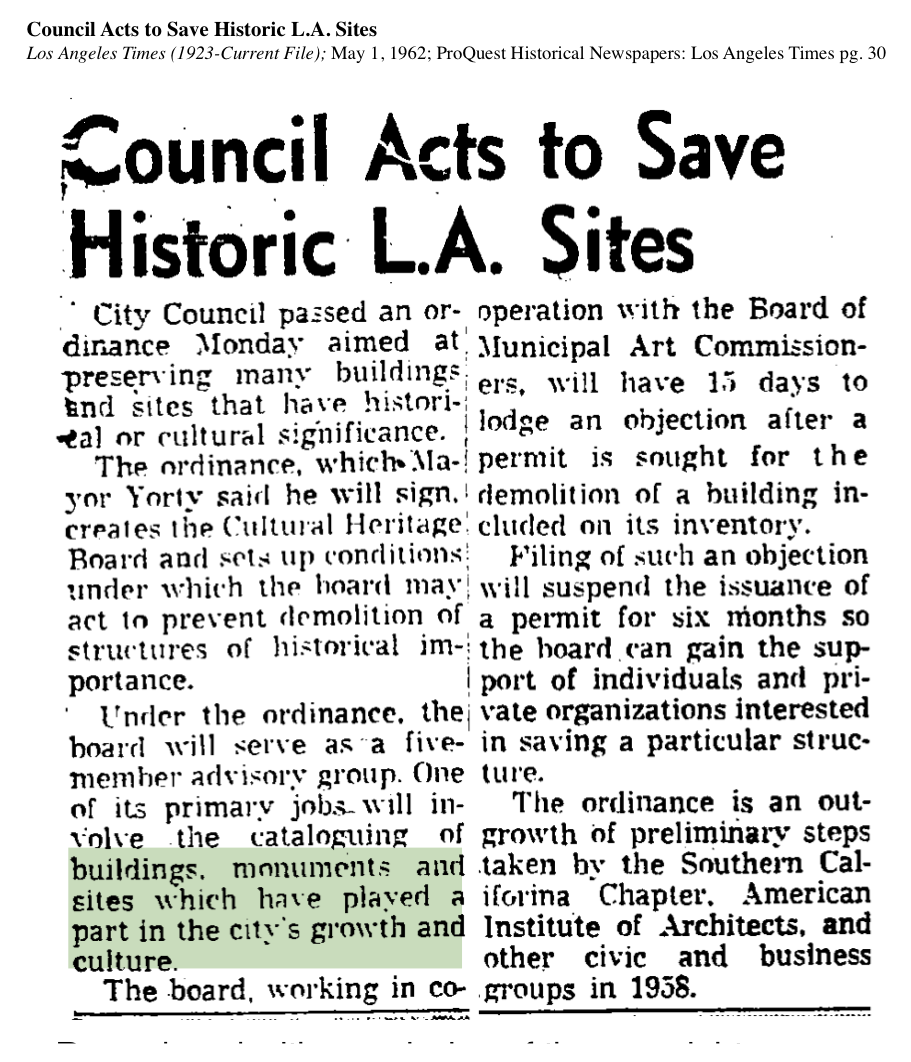 1962-Council Acts To Save Historic Sites