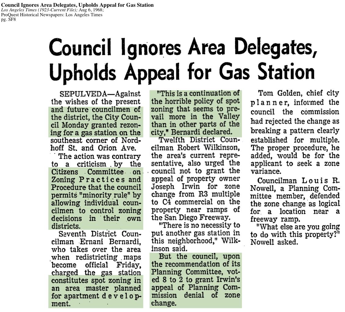 1968-Council Ignores Area Delegates