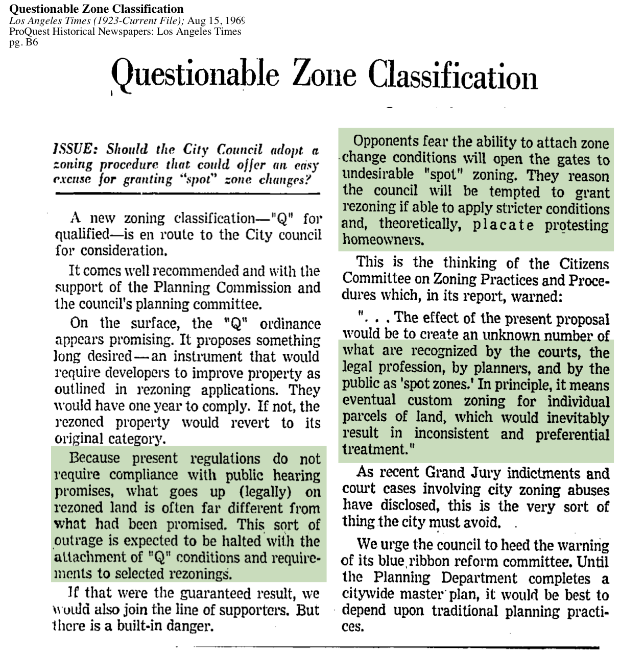 1969-Questionable Zoning Classification