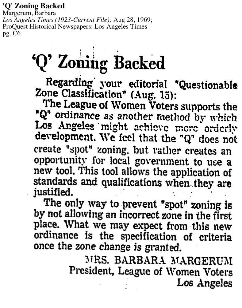 1969-'Q' Zoning Backed