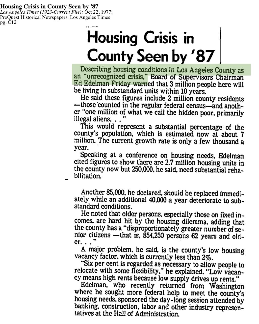 1977-Unrecognized Housing CrisisI