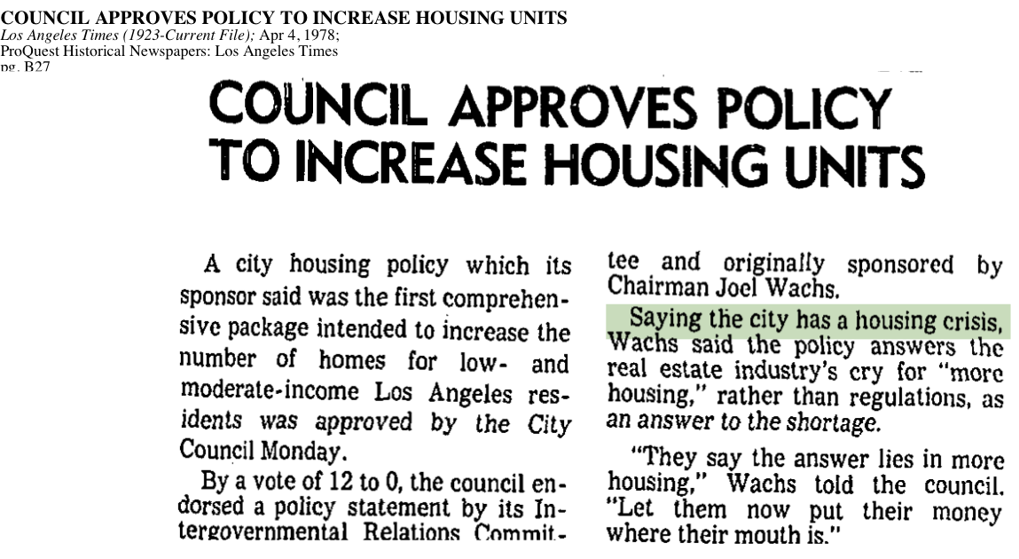 1978-City Has Housing Crisis