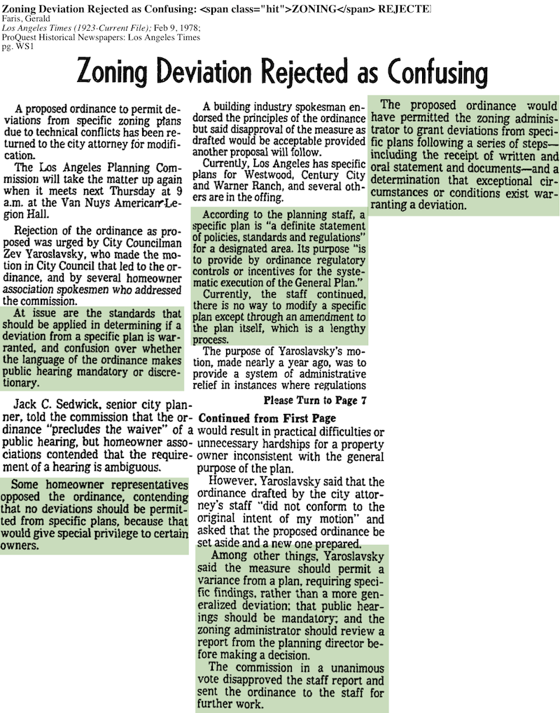 1978-Zoning Deviation Rejected
