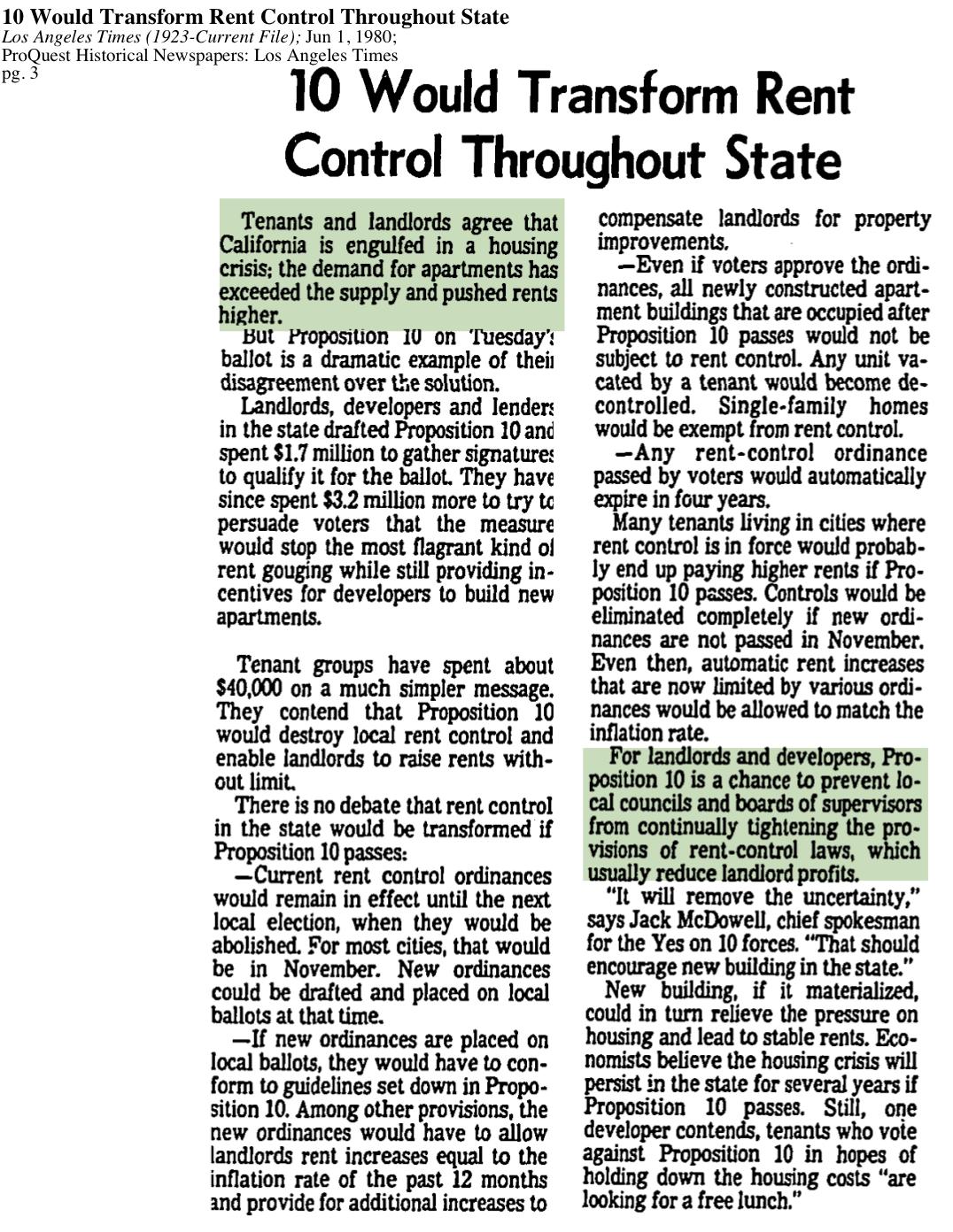 1980-Proposition 10 Transform Rent Control Crisis