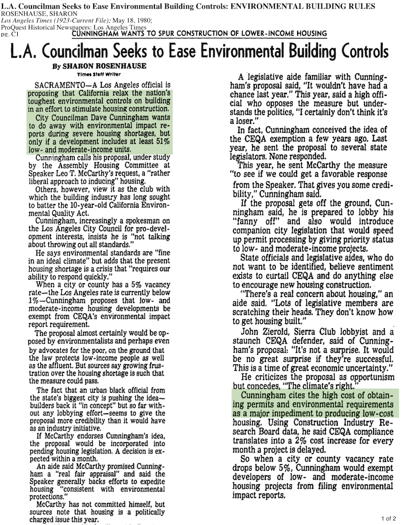 1980-Councilman Cunningham Wants To Do Away With Environmental Reports