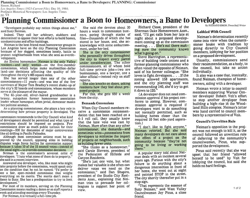 1984-Boon To Homeowners, Bane to Developers