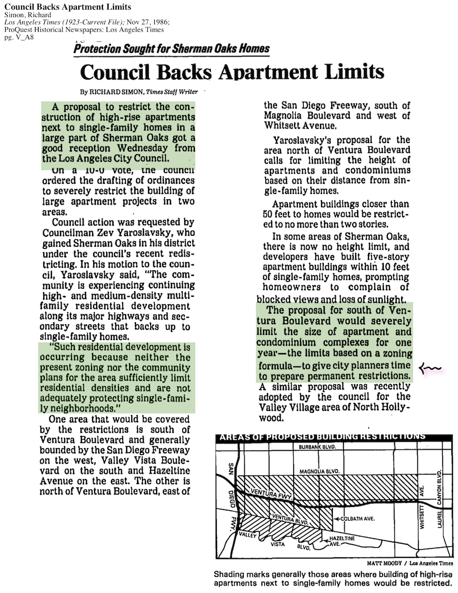 1986-Council Backs Apartment Limits