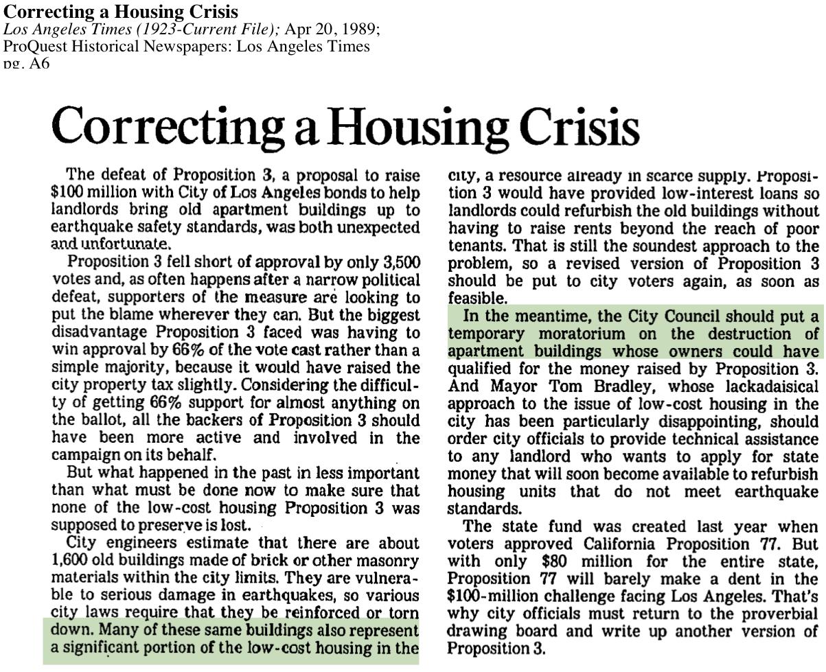 1989-Correcting Housing Crisis
