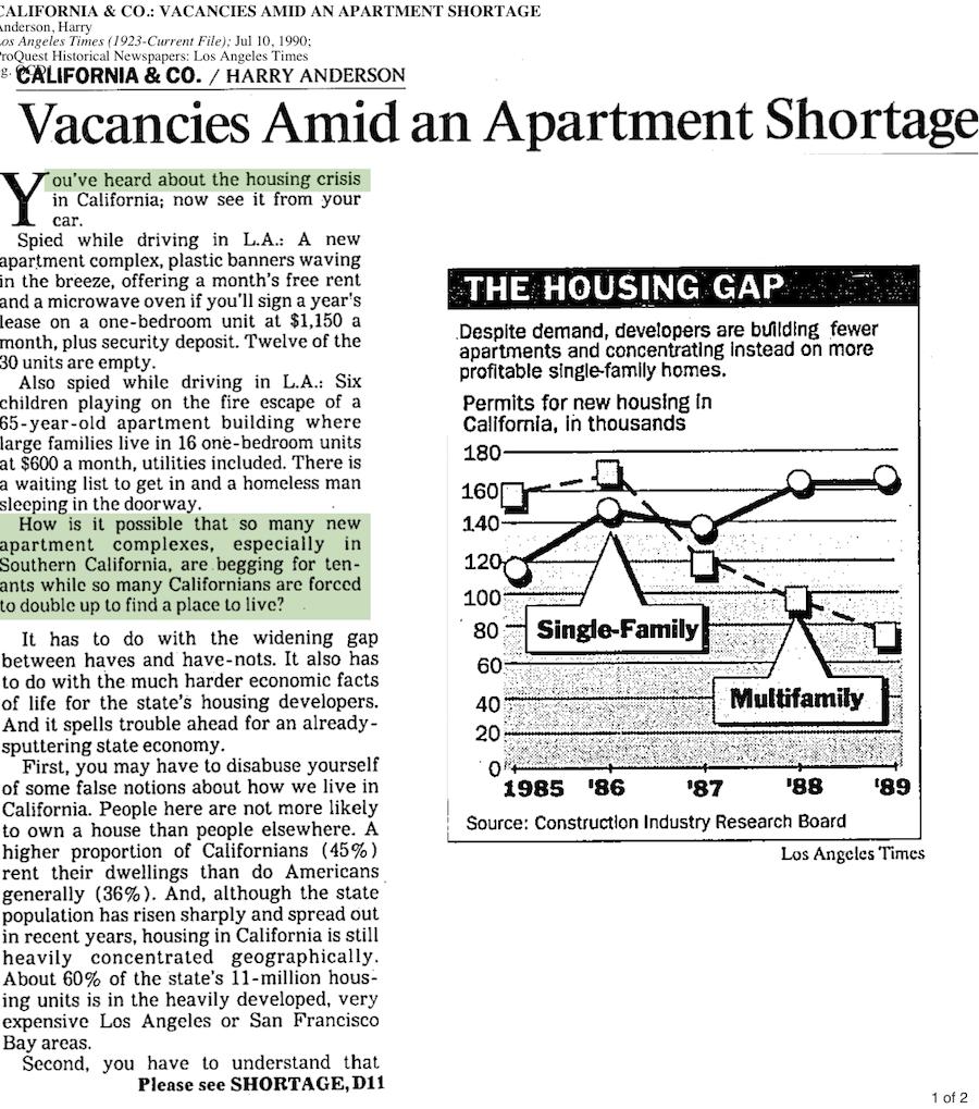 1990-Apartment Shortage