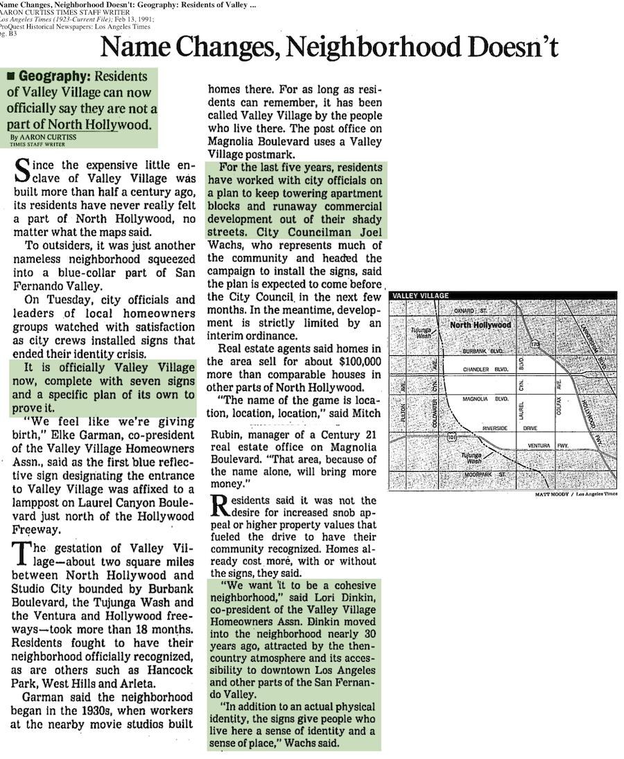 1991-Name Changes, Neighborhood Doesn't