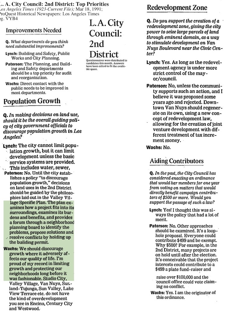 1991-City Council District 2-Q and A