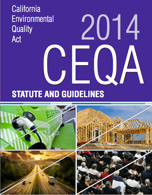 CEQA-Statute And Guidelines